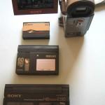 comparaison cassette Sony MicroMV, HI8, DV LP