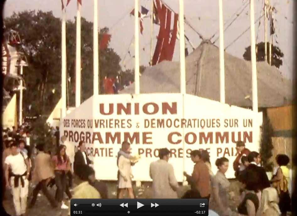 La Fête de l'Huma en 1968, film amateur anonyme tourné en 8mm